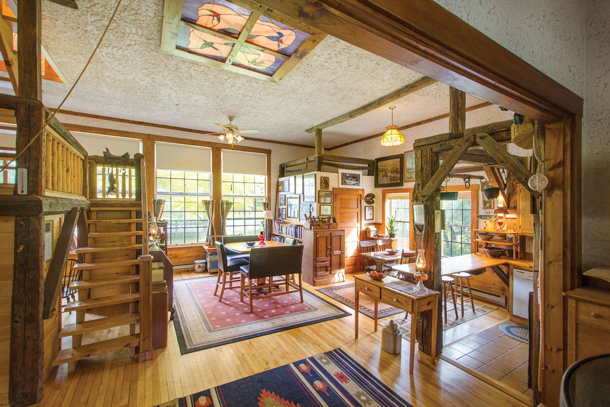 An Old Schoolhouse Converted Into A Home