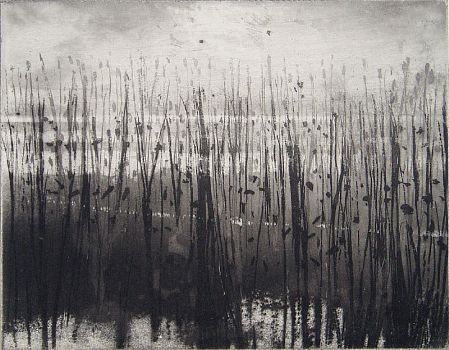 Norman Ackroyd-''Moored Man' including the etching 'Overy Marshes''-DAVID CASE FINE ART