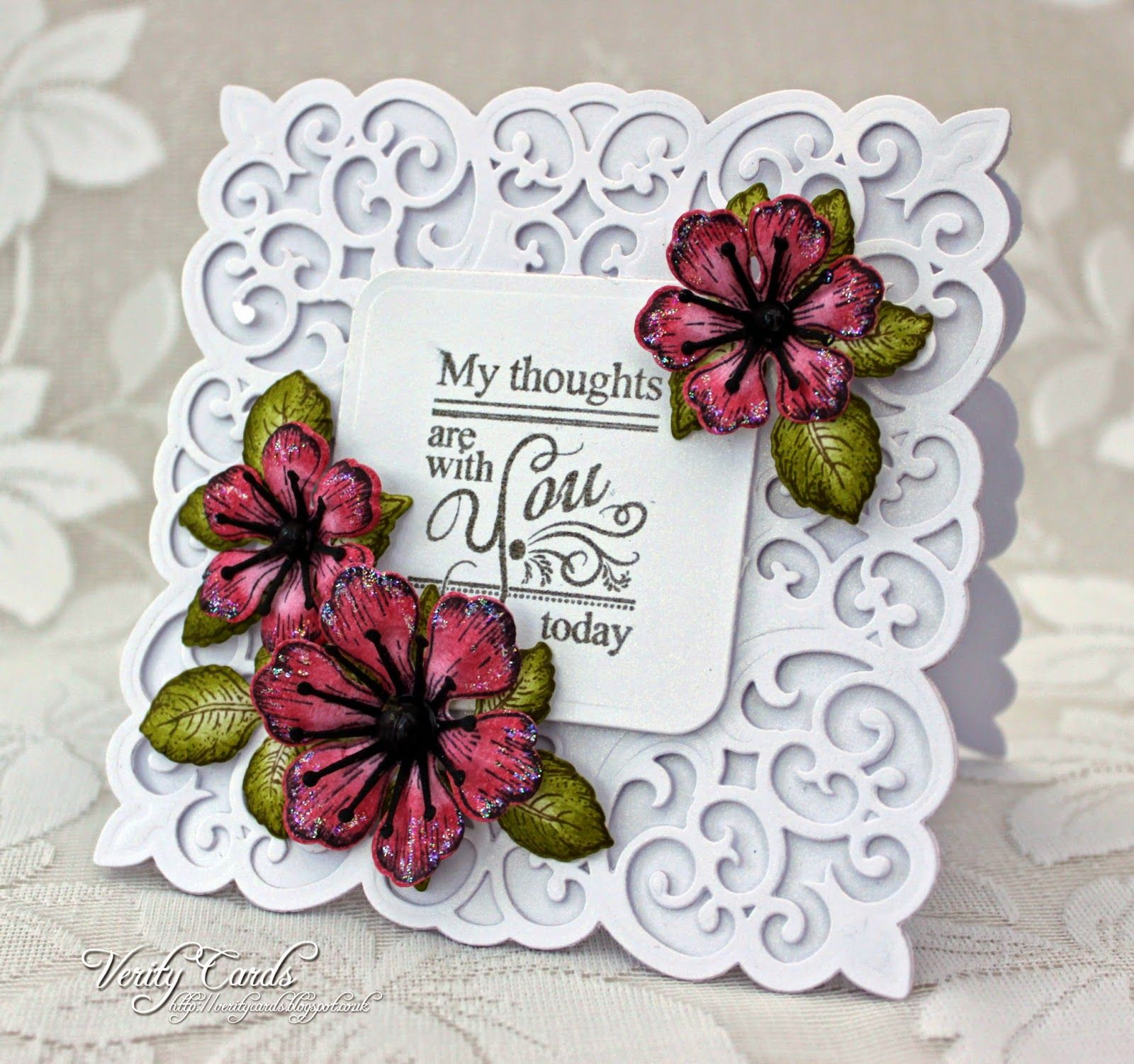 My Thoughts Are With You Today Verity Cards Cards