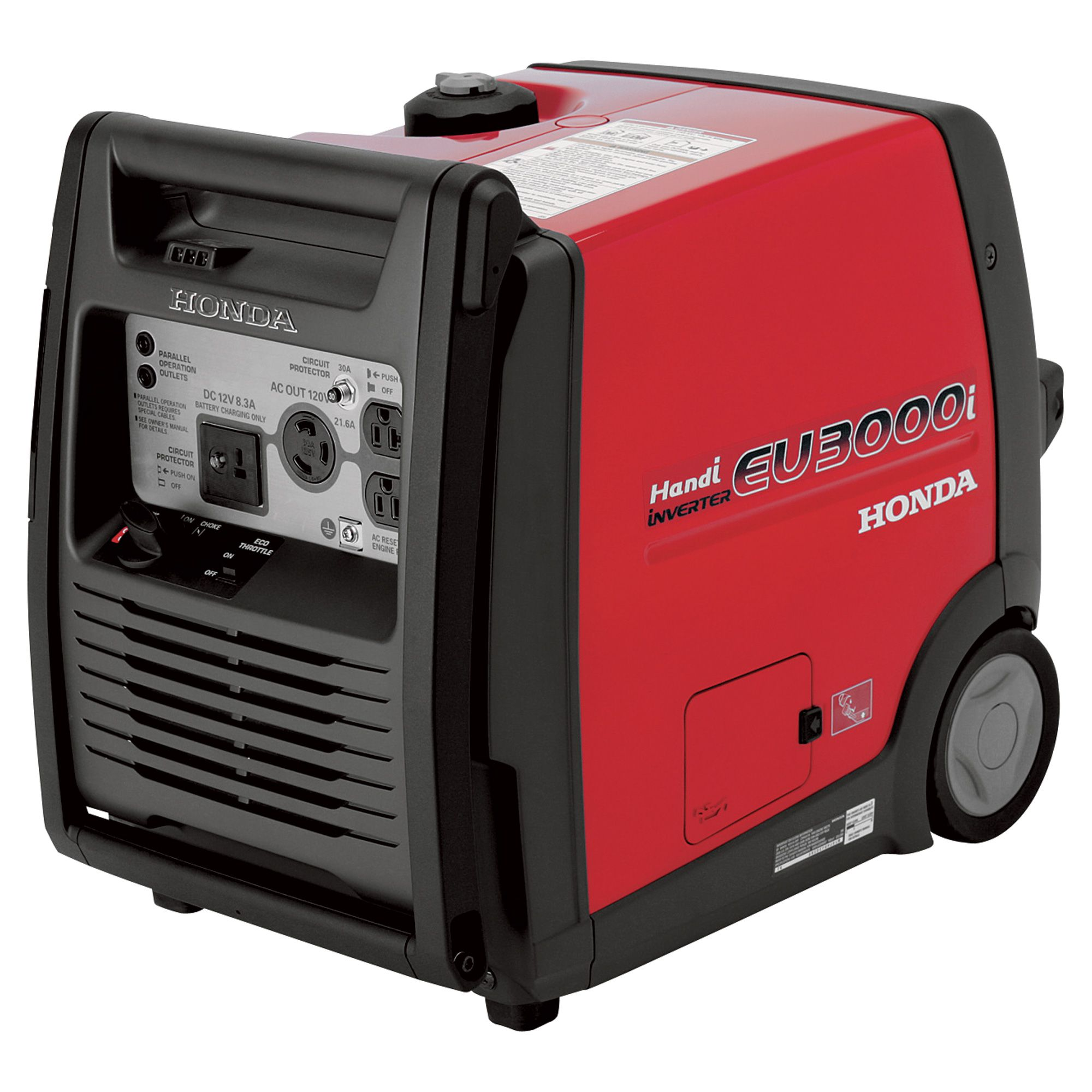 Honda EU3000i Handi Portable Inverter Generator — 3000 Surge Watts