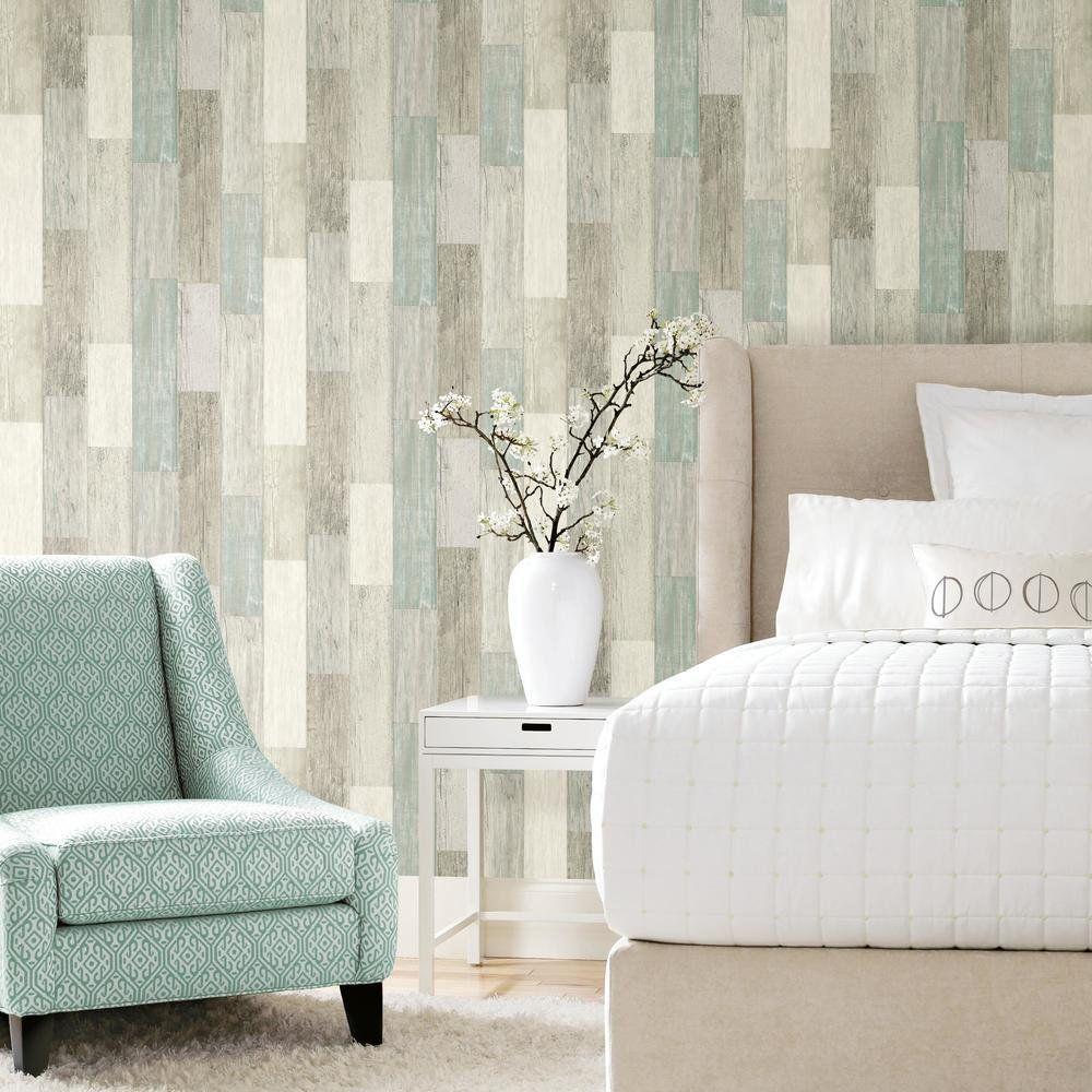 Roommates Coastal White And Blue Weathered Wood Planks Peel And Stick Wallpaper Walmart Com Stick On Wood Wall Wood Planks Wood Wallpaper