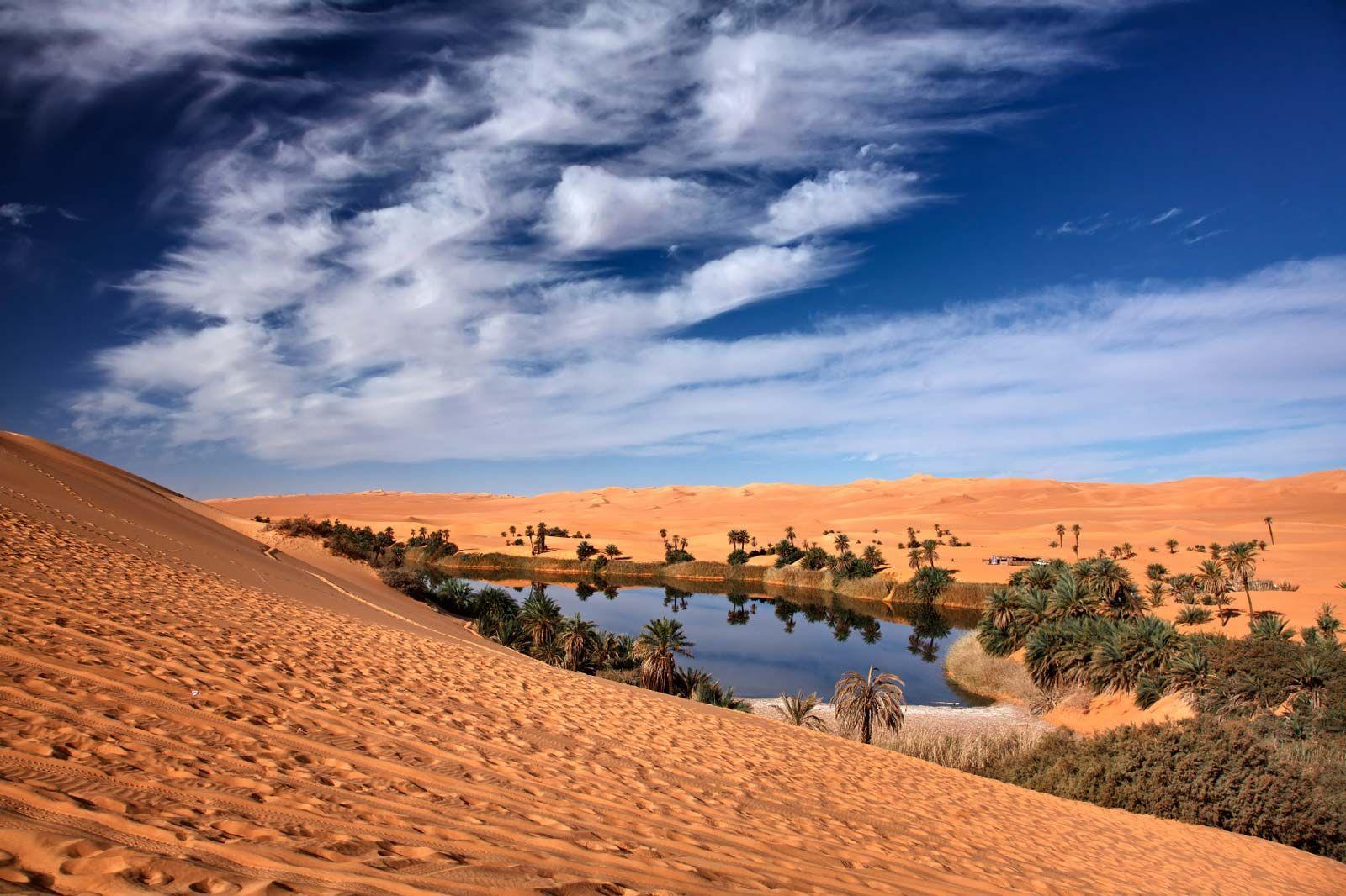 Oásis no Deserto do Sahara, Líbia