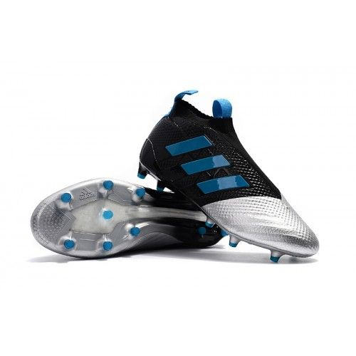 9f52840f2 Adidas Fotballsko ACE 17+ PureControl FG Svart Sølv Blå | adidas ...