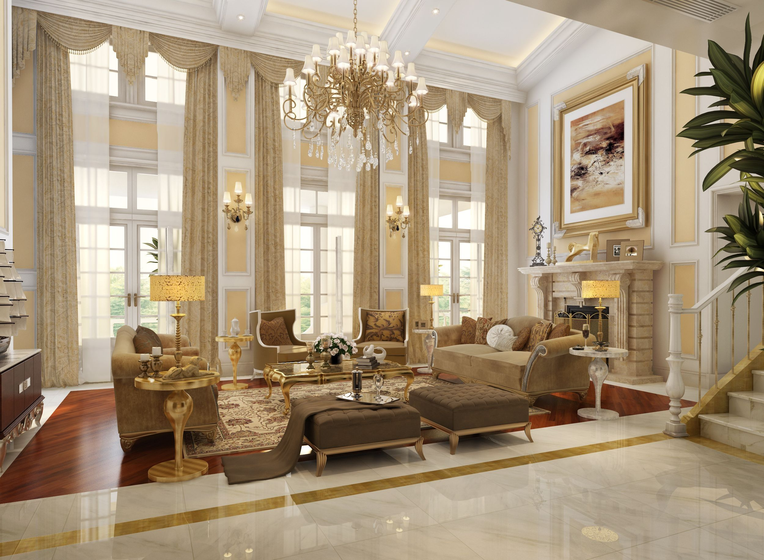 24 Luxurious Interior Design Inspirations For Your New Home with ...