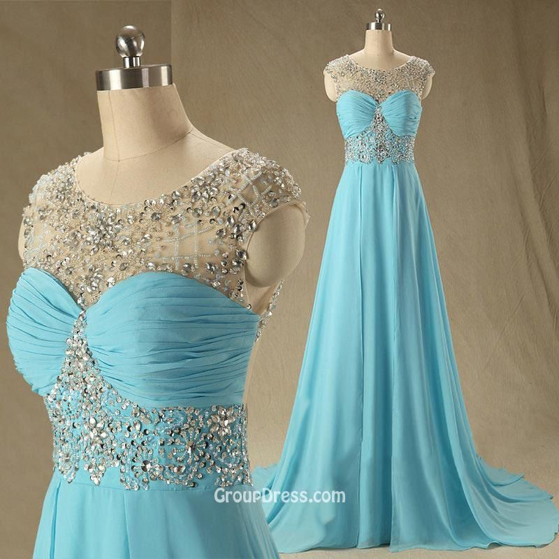 Blue Strapless Dress - Pastel Blue Party Prom Dress | UsTrendy ...
