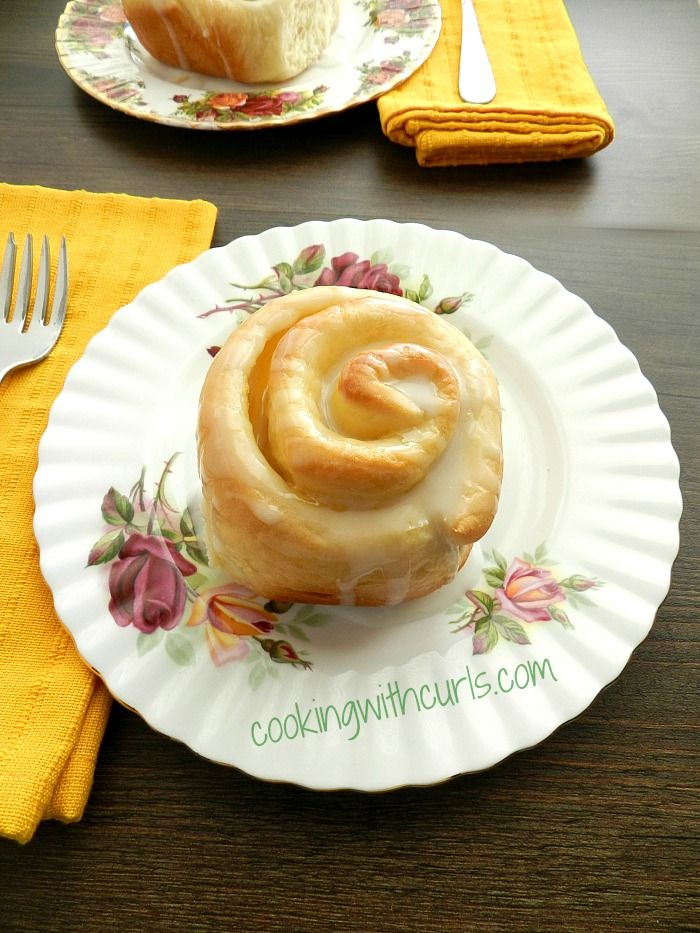 Delicious Lemon Curd Sweet Rolls  by cookingwithcurlscom.