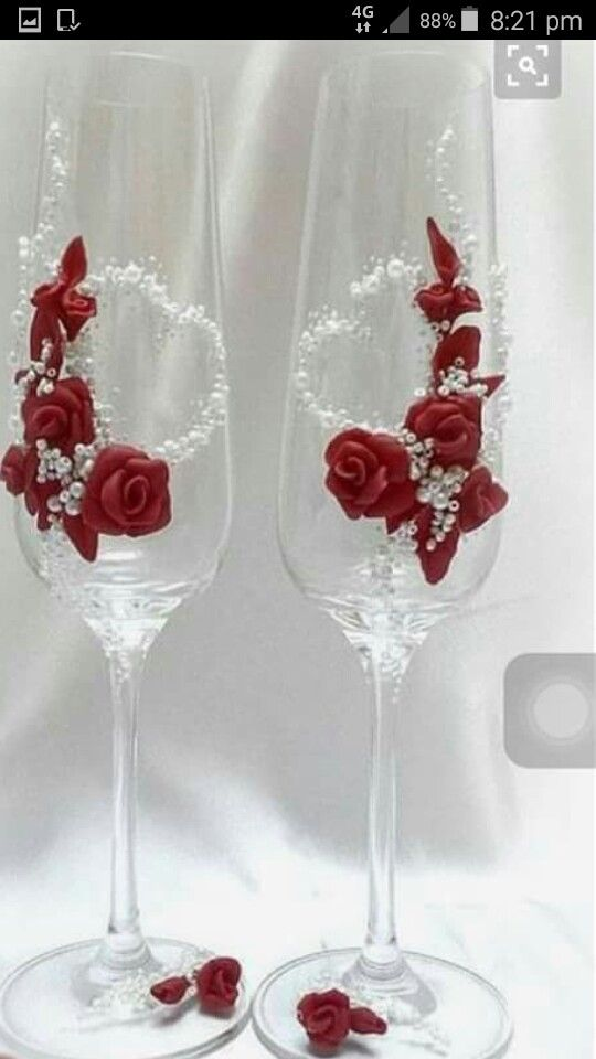 Glass Decorate Glass Decorate Wedding Glasses Glass Decorated