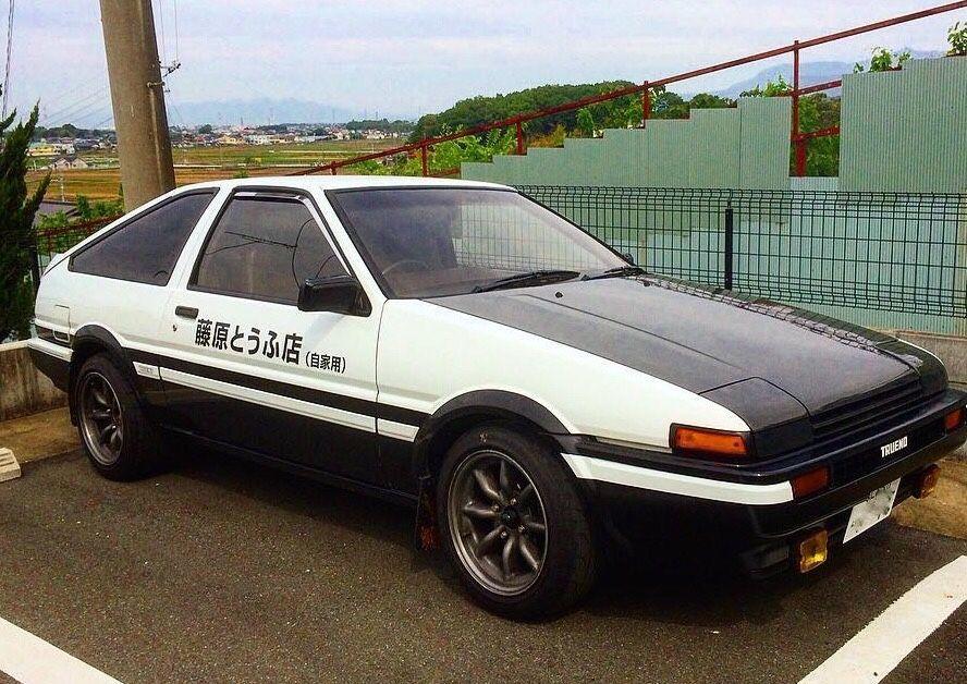 Toyota Ae86 Trueno In Initial D Panda Colouring Toyota Classic Cars Ae86