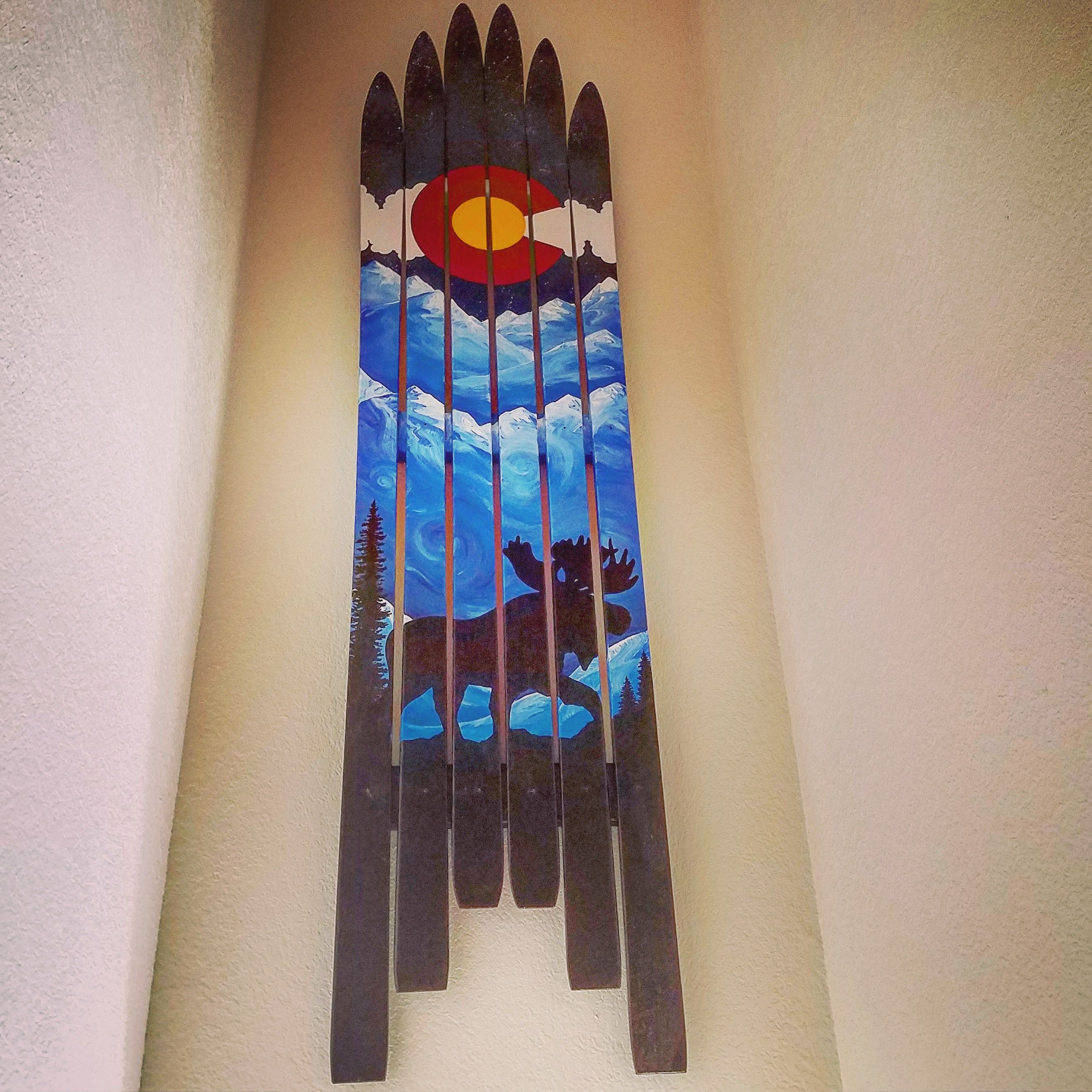 Pin By Colorado Ski Furniture On Made In Colorado Rad Stuff Colorado Art Barnwood Wall Art Wall Flag
