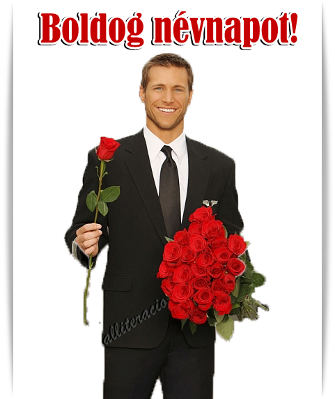 csajos névnapi köszöntő képeslap névnap, képeslap, pasi, rózsa, csokor, férfi, rózsával  csajos névnapi köszöntő képeslap