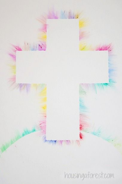 colorful light ray cross