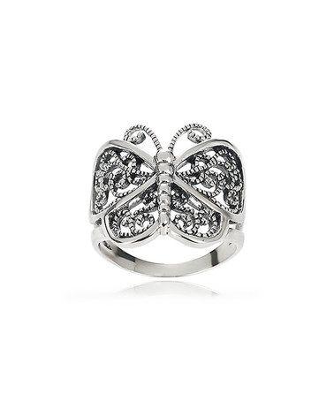 Look at this #zulilyfind! Sterling Silver Butterfly Ring #zulilyfinds