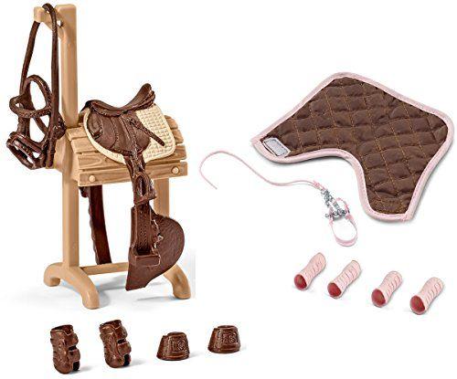 Schleich chevaux accessoires de concours set 2 pièces 42200 42205 amazon fr jeux et jouets