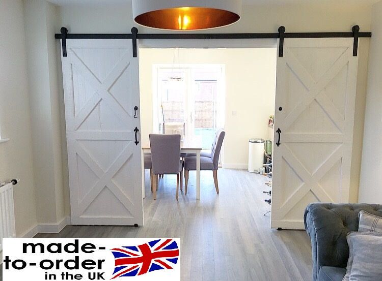 Sliding Barn Door Bi Parting Double System With Images Double