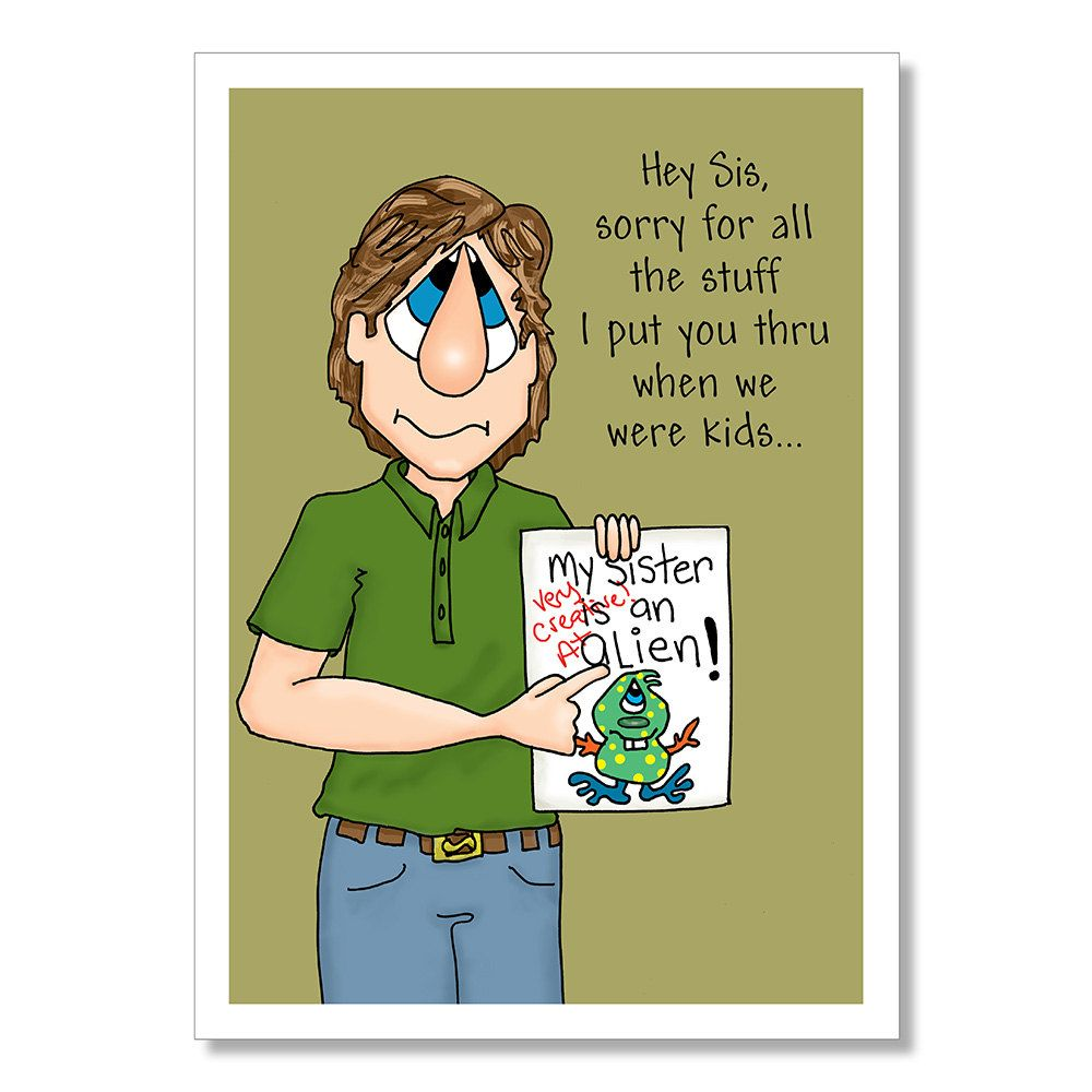 Birthday card for Sister Funny Sister Birthday Card Birthday – Funny Sister Birthday Cards