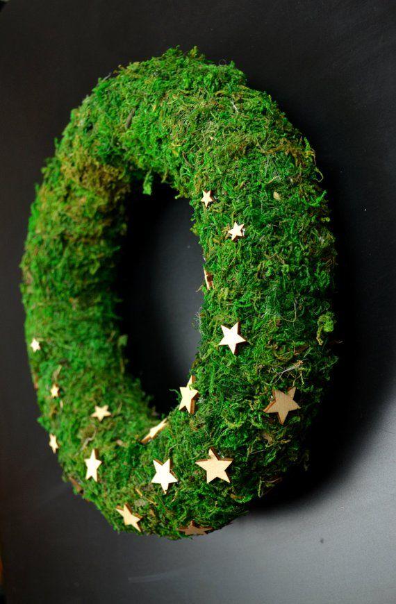 handmade moss christmas wreath rustic advent wreath front door wreath