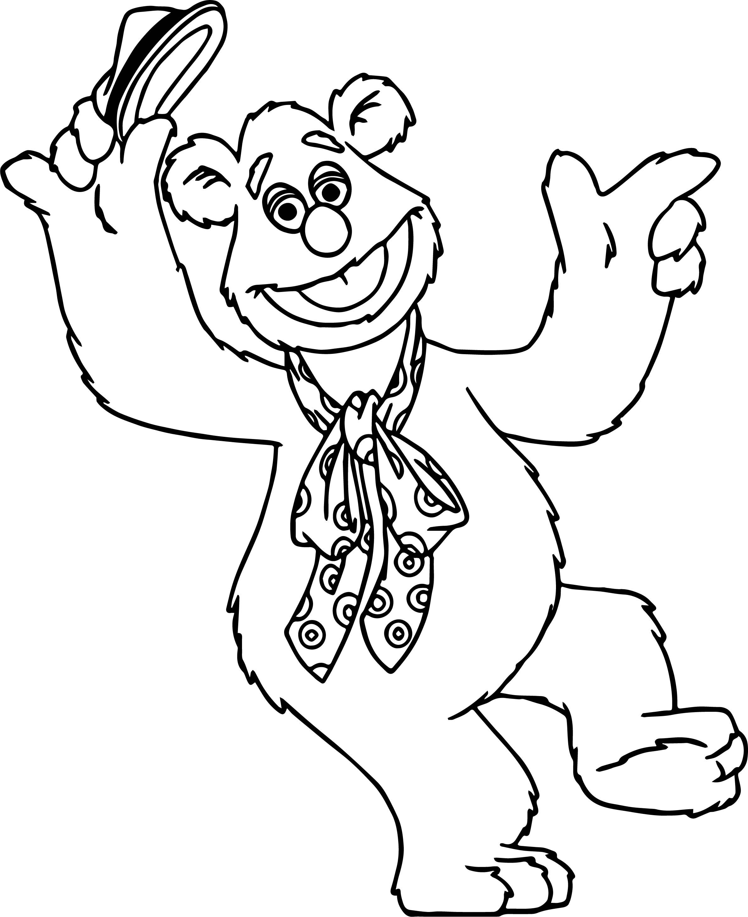 Muppets Animal Free Printable: The Muppets Fozzie Bear Coloring Pages