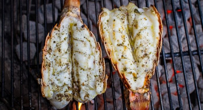 how to cook lobster tail on the grill