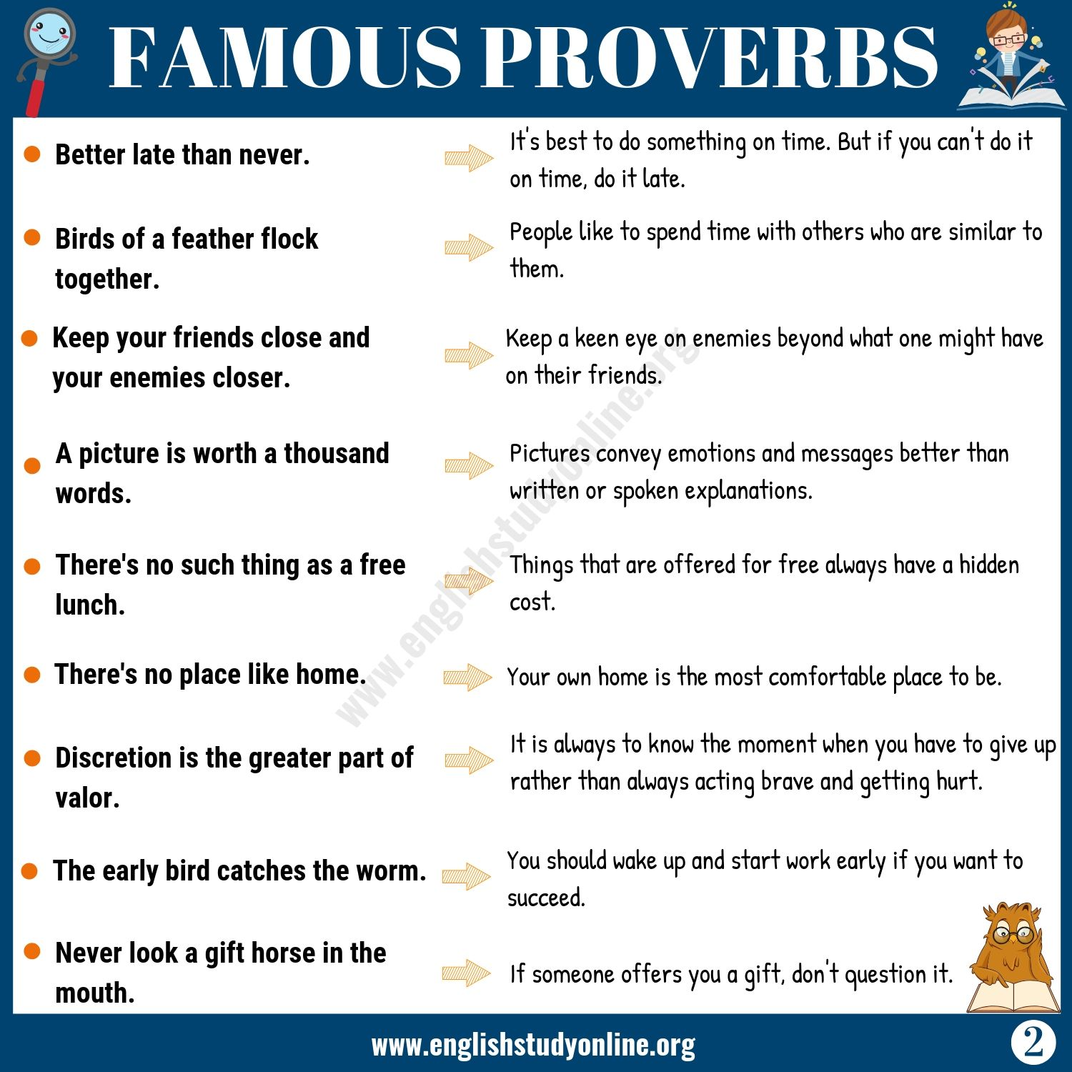 45 Famous Proverbs With Meaning For Esl Learners