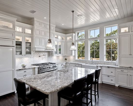 Best White Ice Granite Our Counter Tops Eclectic Kitchen 640 x 480