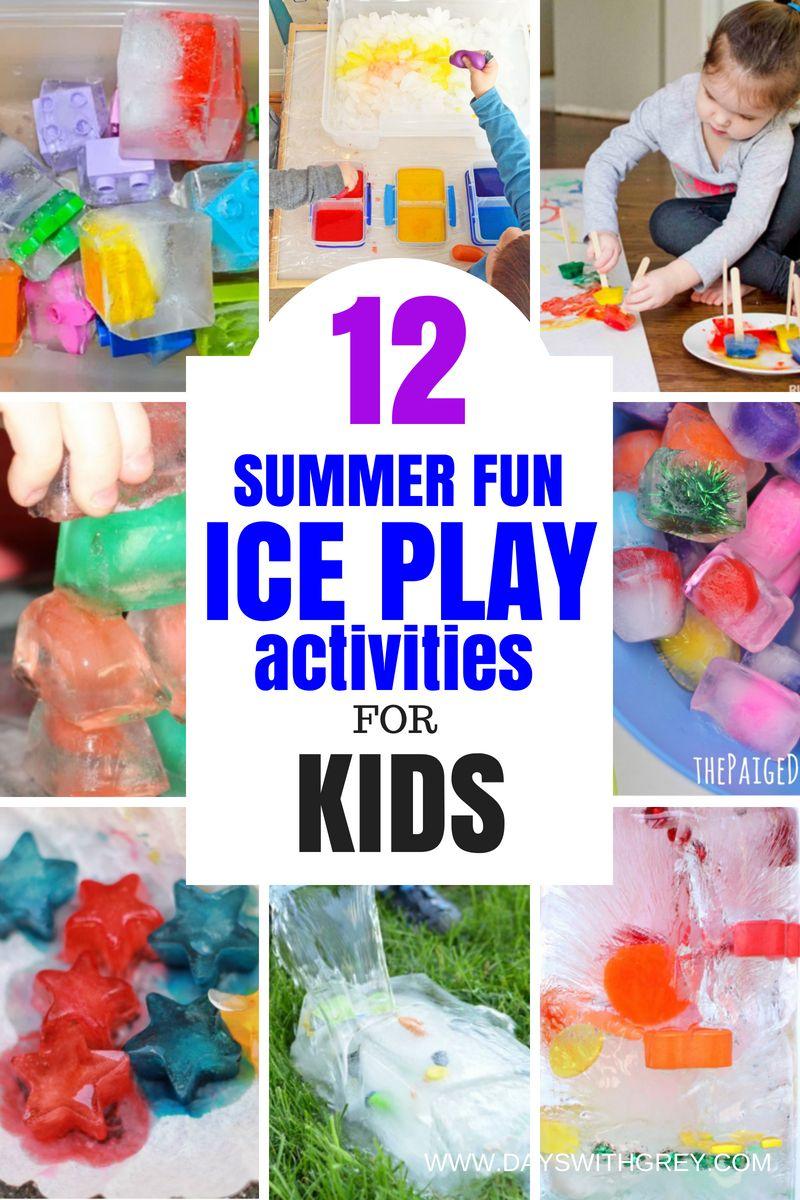 ice play activities for kids  Water play activities, Summer