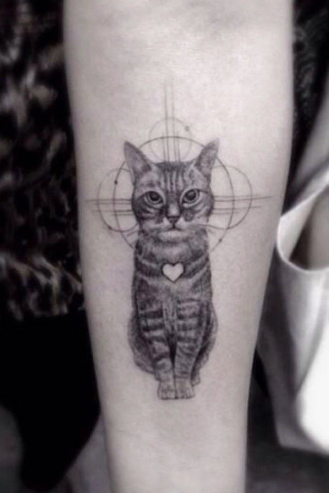 50 Purrfect Cattoos Every Cat Lady Will Love Animal Tattoos For Women Dr Woo Tattoo Cat Tattoo Designs