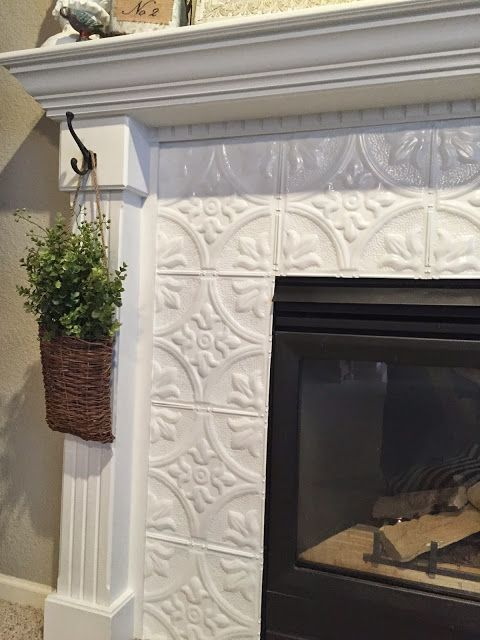 refacing a fireplace with tile. Naughton Your Life  Fireplace Makeover With Tin Tile Fireplaces