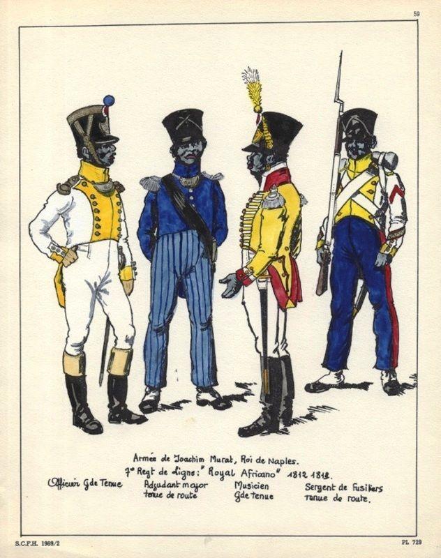 kingdom of naples 7th royal african line infantry l to r officer grande tenue adjutant. Black Bedroom Furniture Sets. Home Design Ideas