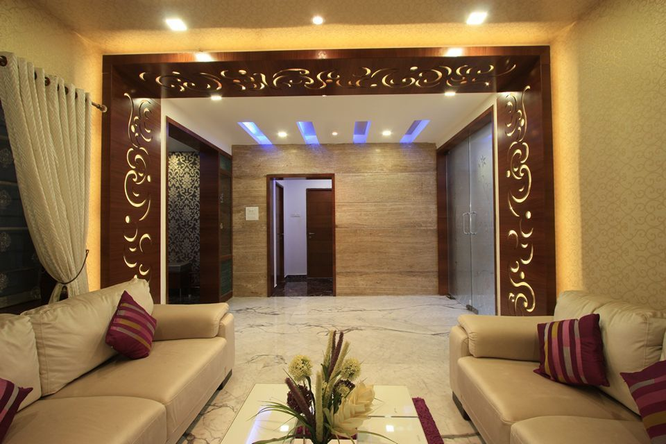 Mugappair Ethnic Villa Drawing Room 4 Renovation Ideas
