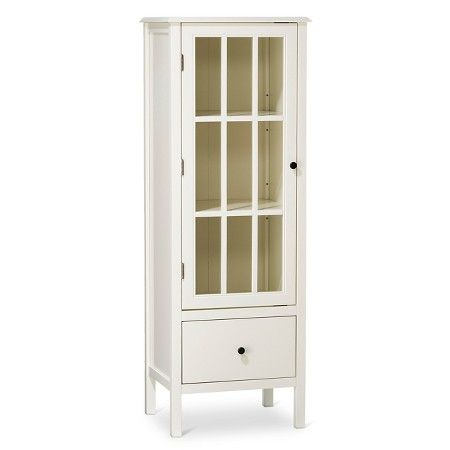 Windham Narrow Library Cabinet with Drawer Gray - Threshold ...