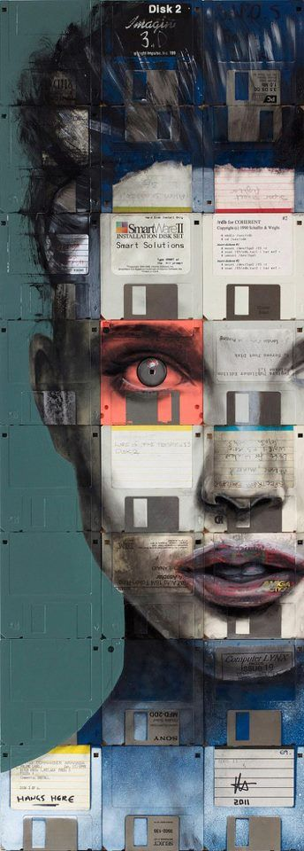 "floppy disc art_ ""Electress"" by Nick Gentry"
