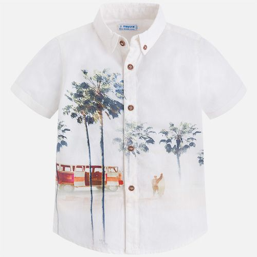 78d450e43 Boys short-sleeved cotton shirt by Mayoral