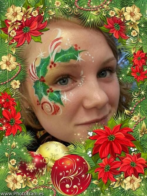 christmas holly eye design