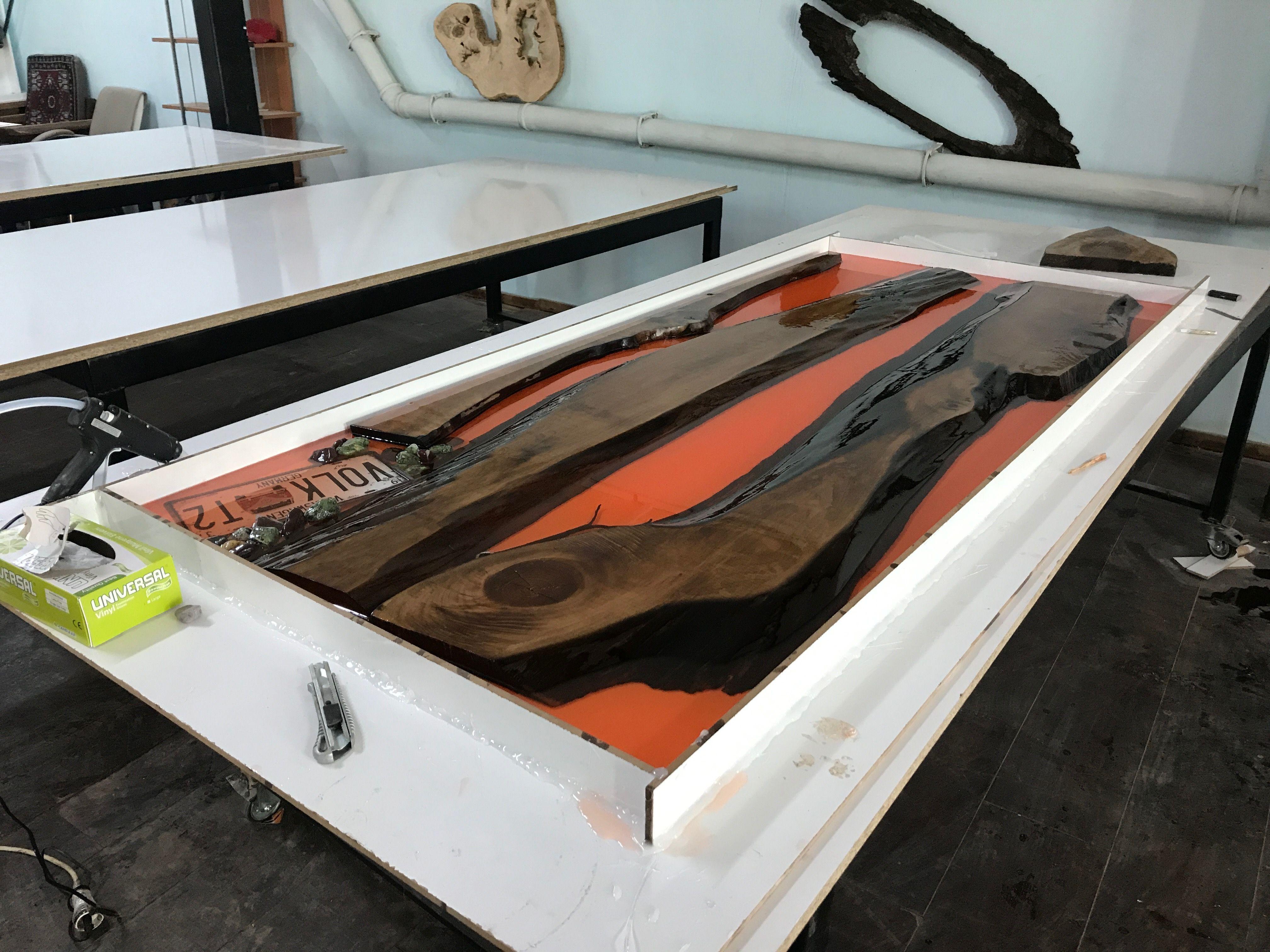 Epoxy table epoxy wood table