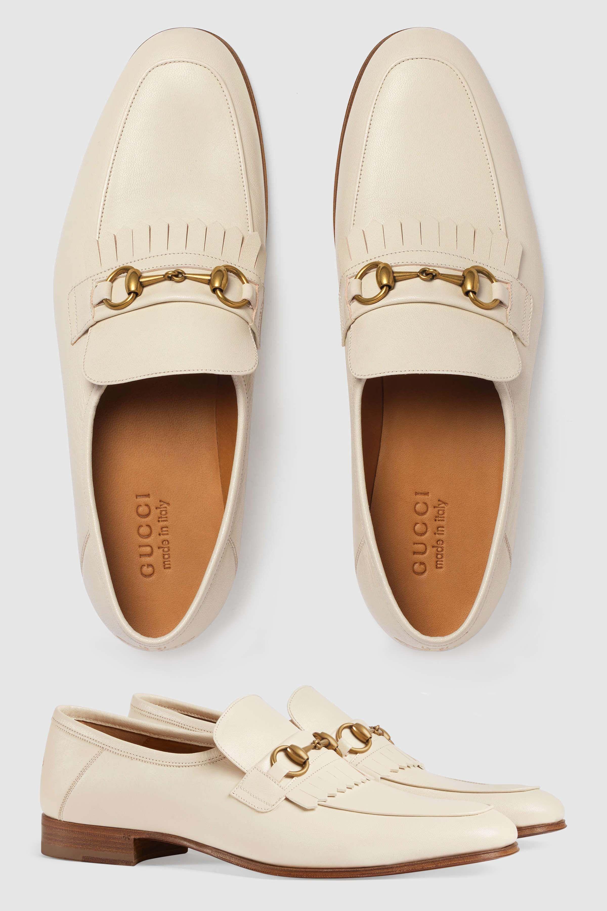 0ac3ae9ac1e GUCCI Leather fringe Horsebit loafer