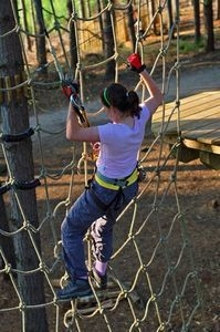 how to make a climbing cargo net for kids ropes course jargons