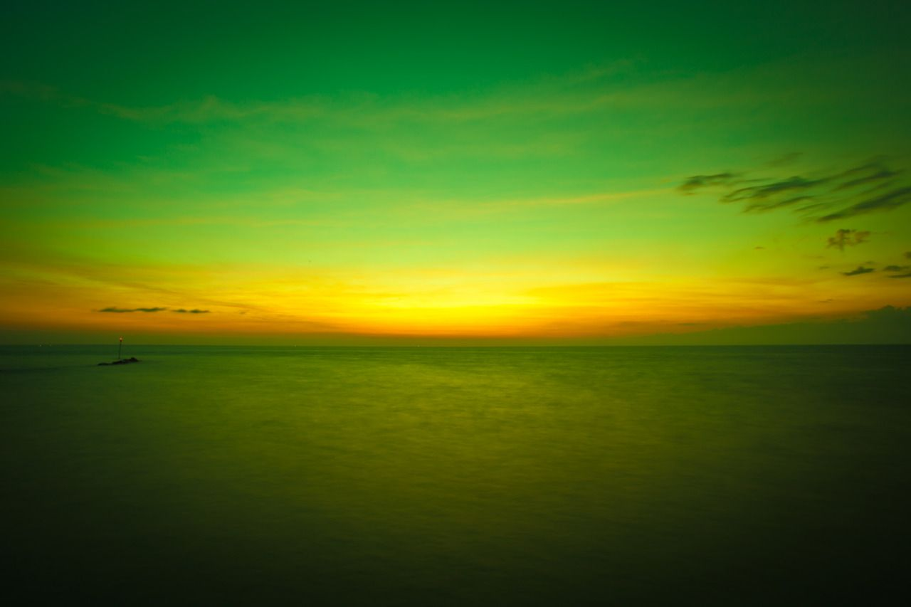 sunset green background - photo #5