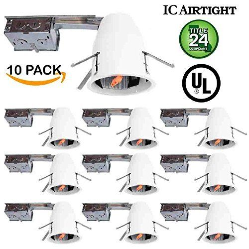 Sunco lighting 10 pack 4 inch remodel led can air tight ic 10 pack 4 inch remodel led can air tight ic housing led recessed lighting ul listed and title 24 certified check out the image by visiting the link aloadofball