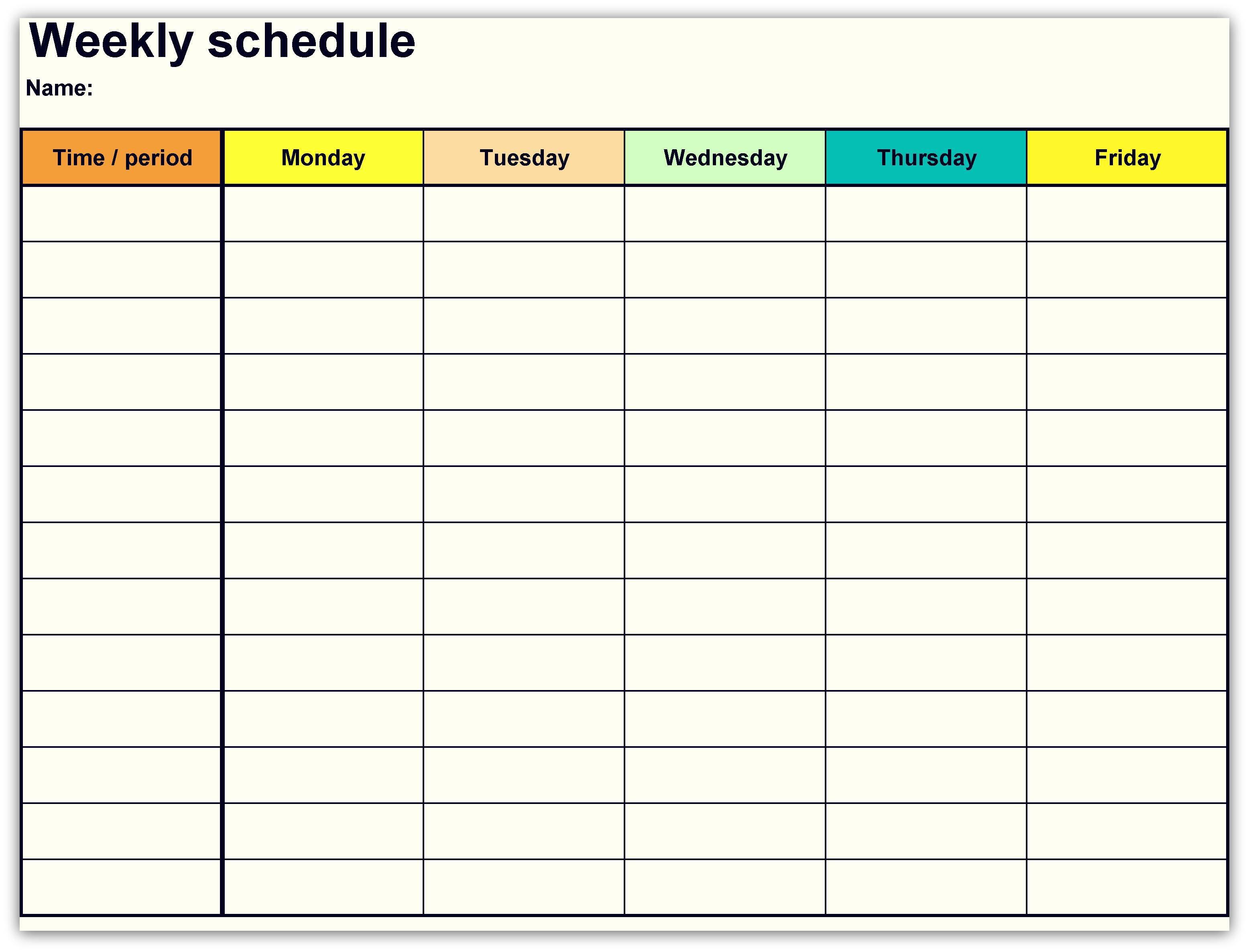 2018 Weekly Planner Calendar 2018 Calendars Pinterest Calendar