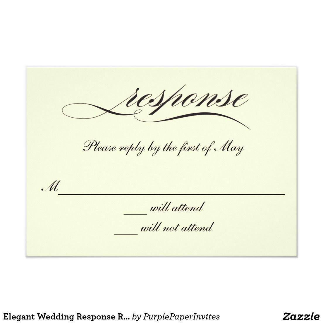 elegant wedding response rsvp cards invitation rsvp cards