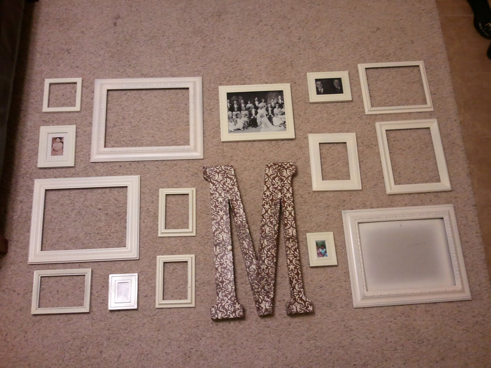 more picture frame collages | wall decor ideas | Pinterest