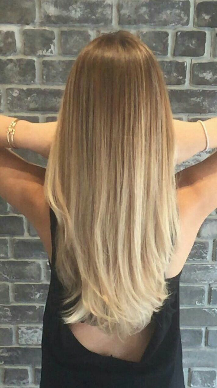 Blonde Glatte Haare Balayage On Straight Hair More Hair Balayage Glatte