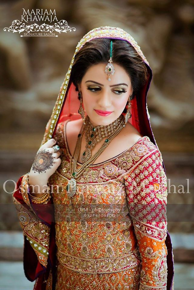 3cafc5882d Pakistani Designer Orange Bridal Dress | Wedding Dresses - Pakistani ...