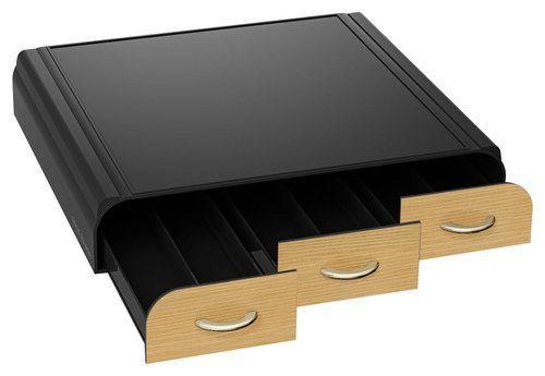 Mind Reader Anchor Coffee Pod Storage Drawer Black Brown TRAY6