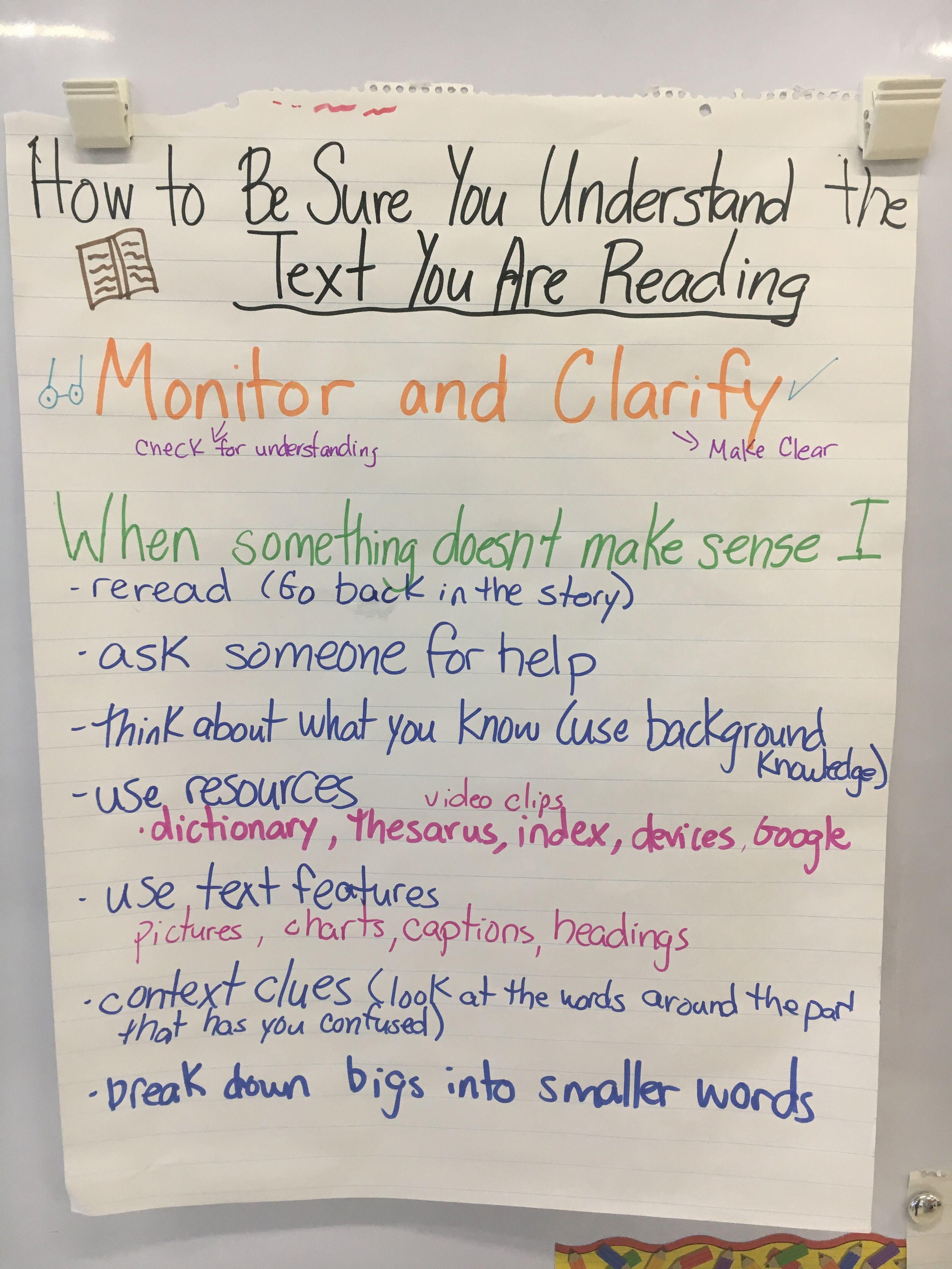 Monitor Clarify Anchor Chart