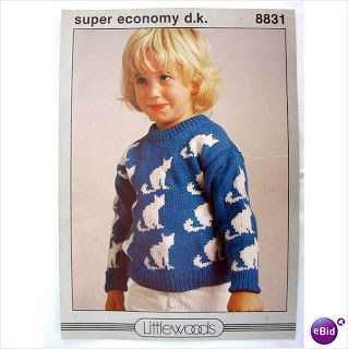 Cat motif knitting patterns for children (With images ...