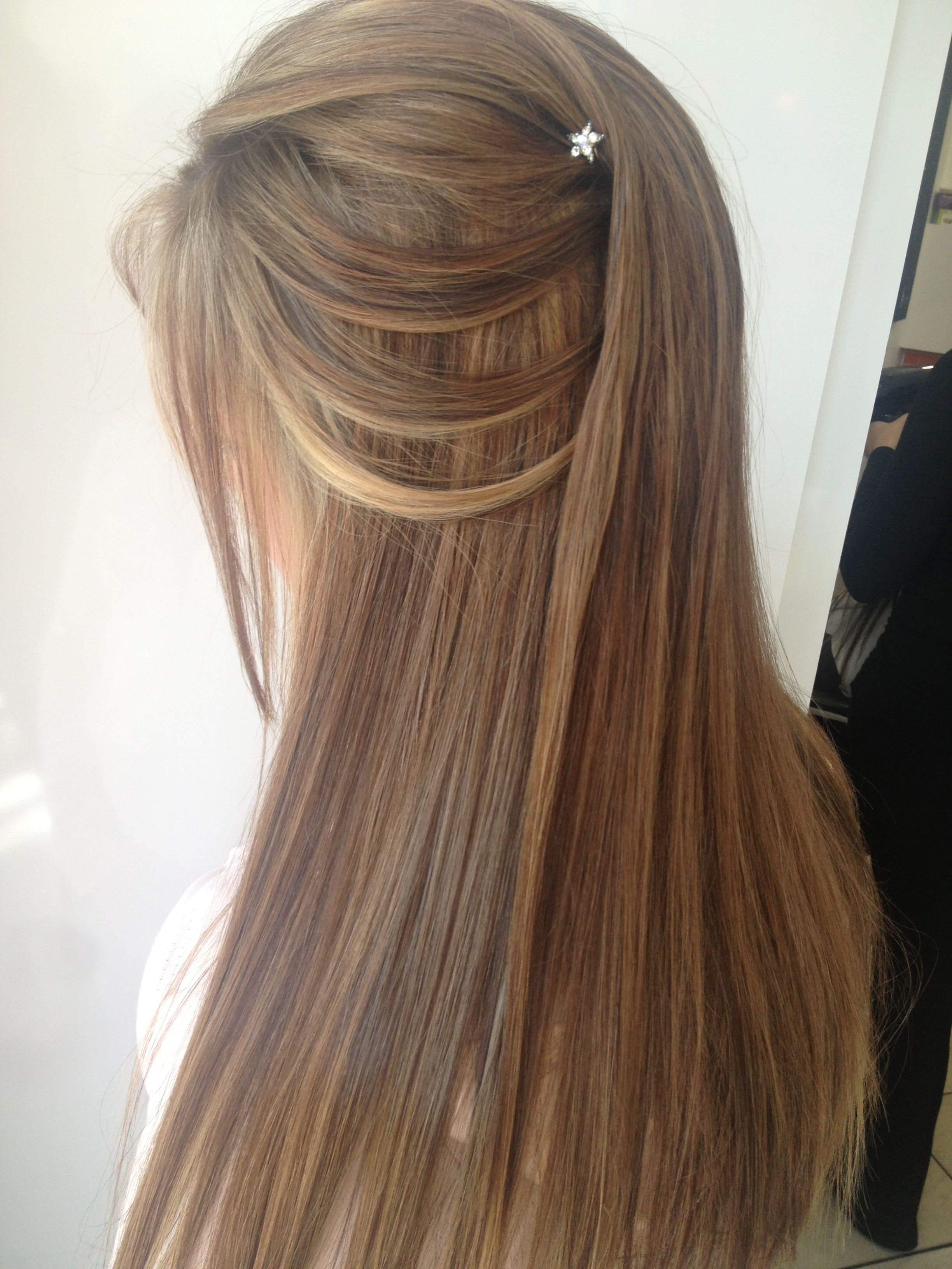 Half up half down hairstyle I did for a matric dance