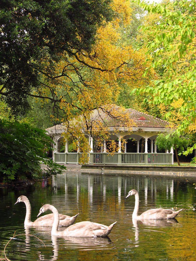 Dublin Autumn in St. Stephen's Green Park Ireland