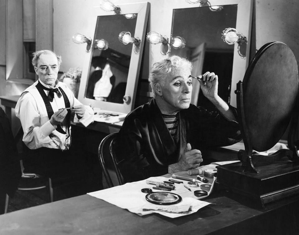 Buster Keaton and Charlie Chaplin in Limelight directed by Charlie Chaplin,1952