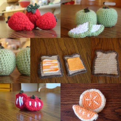 Crocheted food!